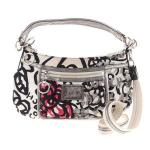 Coach Poppy Graffiti Floral Bag #14734